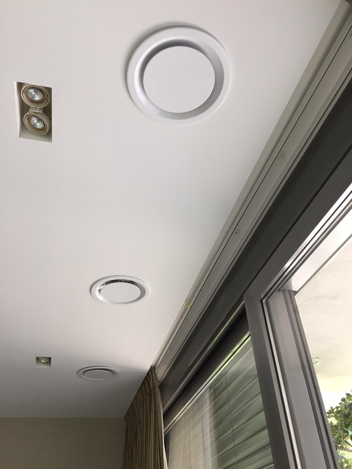 Diffusori Lineari Aria Condizionata madel dso, diffusori con disco centrale
